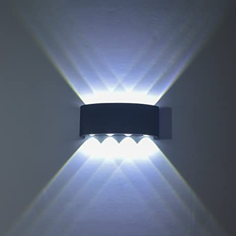 Double headed LED wall lamp